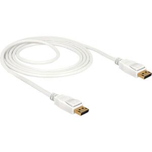 Delock Kabel DP 1.2 Stecker > DP Stecker 4k weiß 1,5 m DELOCK 85509