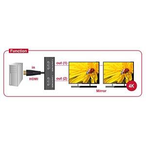 Splitter HDMI Stecker > 2 x HDMI Buchse 4K DELOCK 87700