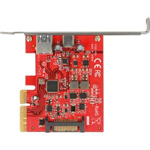Delock PCIe x4 Karte > USB 3.1 C-Buchse + A-Buchse DELOCK 89898