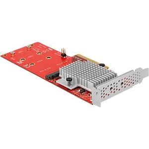 PCIe x8 Karte zu 2x NVMe M.2 Key M LP DELOCK 90305