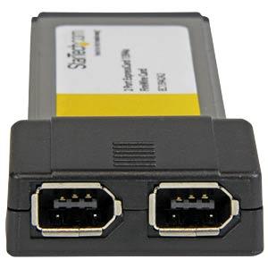 Express Card, 2x FireWire 1394A, 400 Mbit/s STARTECH.COM EC13942A2