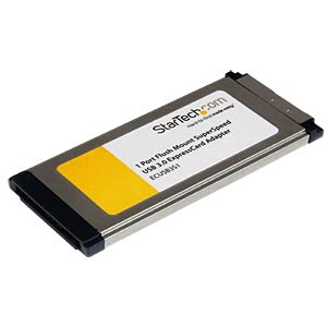 Express Card, 1x USB A 3.0, 5000 Mbit/s STARTECH.COM ECUSB3S11