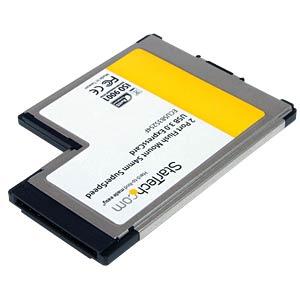 Express Card, 2x USB A 3.0, 5000 Mbit/s STARTECH.COM ECUSB3S254F