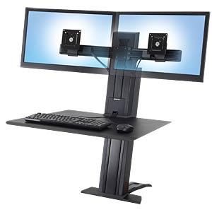 WorkFit-SR, Dual-Monitor, Sitz-Steh-Schreibtisch ERGOTRON 33-407-085