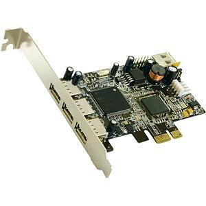 USB 2.0 PCI-Express Karte, 3+1 Ports EXSYS EX-11064
