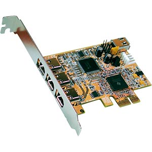 FireWire 1394A PCI Express Card with 3+1 ports EXSYS EX-16500E
