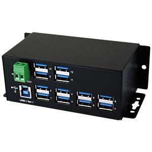 12 Port USB 3.0 / 3.1 Metall HUB EXSYS EX-1112HMS