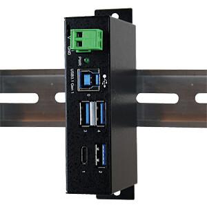 USB 3.0/3.1Metall HUB mit 1x C- und 3x A-Ports EXSYS EX-1194HMS