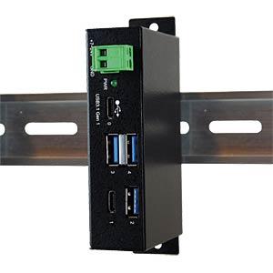 USB 3.0/3.1Metall HUB mit 1x C- und 3x A-Ports EXSYS EX-1195HMS