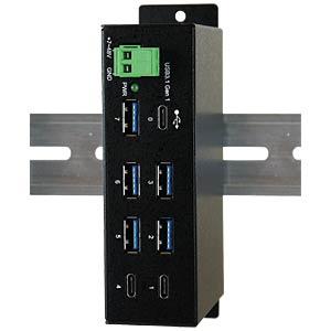 7 Port USB 3.0/3.1 Metall HUB EXSYS EX-1196HMS