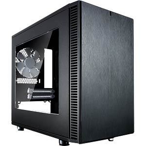 Fractal Design Mini-Tower Define Nano S, Sichtfenster FRACTAL DESIGN FD-CA-DEF-NANO-S-BK-W