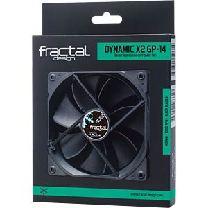 Fractal Design Gehäuselüfter Dynamic X2 GP-14, 140 mm FRACTAL DESIGN FD-FAN-DYN-X2-GP14-BK