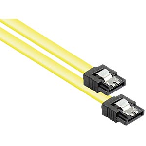 Kabel SATA 6 Gb/s mit Metallclip, gelb, 0,7m GOOD CONNECTIONS 5047-A07Y