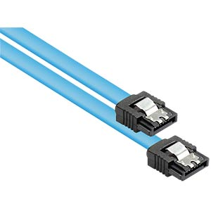 Kabel SATA 6 Gb/s mit Metallclip, blau, 1m GOOD CONNECTIONS 5047-A10B