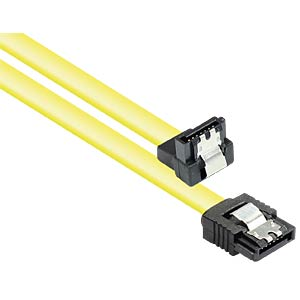 Cable SATA 6 Gb/s, metal, angled, 0,3m GOOD CONNECTIONS 5047-AW03Y