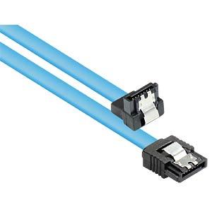 SATA 6 Gb/s mit Metallclip, gewinkelt, 0,5m GOOD CONNECTIONS 5047-AW05B