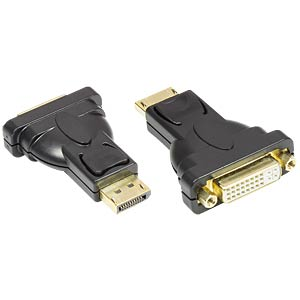 DisplayPort Adapter, DP Stecker auf DVI-I 24+5 Buchse, GOOD CONNECTIONS DVI-DP