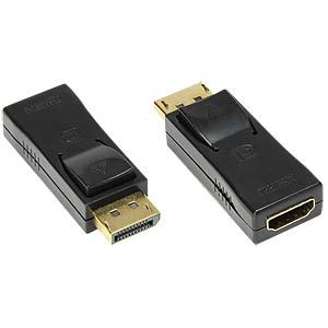 DisplayPort Adapter, DP Stecker an HDMI Buchse GOOD CONNECTIONS HDMI-DPG