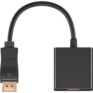 DisplayPort/HDMI Adapterkabel 1.2, 0,2 m GOOBAY 49112