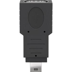USB 2.0-adapter, mini B-stekker > A-bus, zwart GOOBAY 50970
