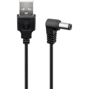 Converter USB-A stekker naar 2,1mm DC-bus, 1,0 m GOOBAY 55158