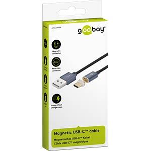 USB 2.0 Kabel, C Stecker magnetisch auf A Stecker, 1,2 m GOOBAY 59039