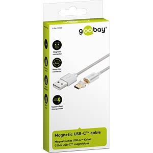 USB 2.0 Kabel, C Stecker magnetisch auf A Stecker, 1,2 m GOOBAY 59040