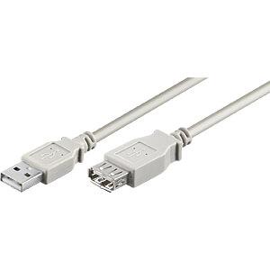 USB 2.0 Hi-Speed-verlengkabel 5,0 m grijs GOOBAY 50962