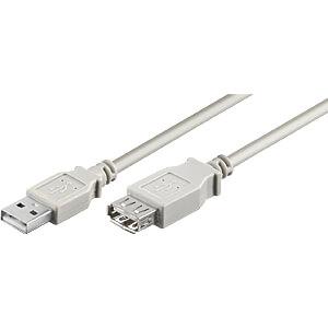 GOOBAY 68716 - USB 2.0 Hi-Speed Verlängerungskabel 3,0 m grau