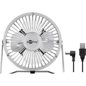 4 Zoll USB Ventilator für den Schreibtisch, silber GOOBAY 77503