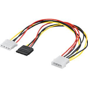 SATA Stromadapter, Stecker > Stecker + Buchse 5.25 GOOBAY 93629