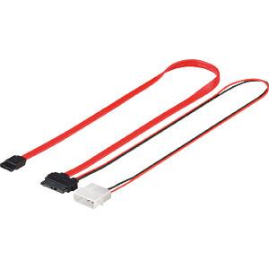 Kabel SATA 3 Gb/s Slim st. > SATA L-type st., stroom, 0,3 m GOOBAY 95713