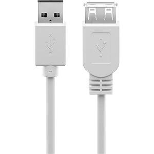GOOBAY 96196 - USB 2.0 Hi-Speed Verlängerungskabel 0,3 m weiß
