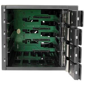 4x 3,5 trägerloser SATA Wechselrahmen STARTECH.COM HSB4SATSASBA
