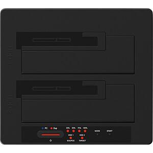 Dual Docking- und Klonstation 2.5/3.5 SATA HDD/SSD, USB 3.1 ICYBOX IB-121CL-C31