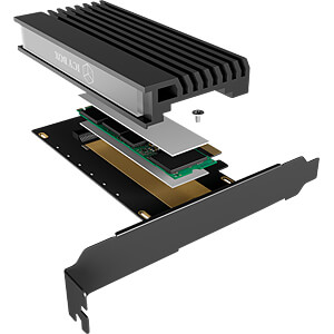 PCIe card, M.2 M-Key socket for M.2 NVMe SSD ICYBOX 60403