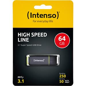 USB-Stick, USB 3.1, 64 GB, High Speed Line INTENSO 3537490