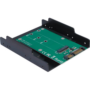 Trägerrahmen M.2 SATA Festplatte/SSD, 3,5 INTER-TECH 88885370