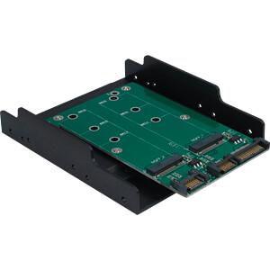 Trägerrahmen für zwei M.2 SATA Festplatte/SSD, 3,5 INTER-TECH 88885372