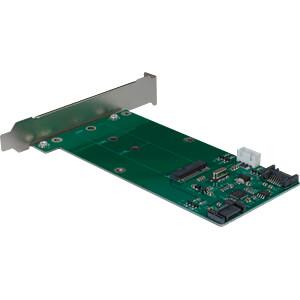 Trägerkarte für M2 SATA Festplatte/SSD + Eingang INTER-TECH 88885379