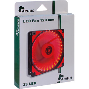 Inter-Tech Argus Gehäuselüfter, 120 mm, LED rot INTER-TECH 88885413