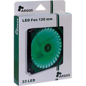 Inter-Tech Argus Gehäuselüfter, 120 mm, LED grün INTER-TECH 88885414