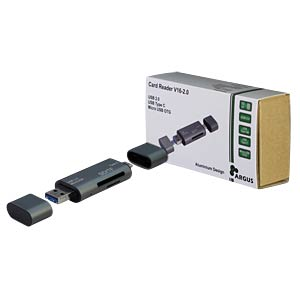 Card Reader, extern, USB 2.0, SD/SDHC/SDXC, Argus V16-2.0 INTER-TECH 88884072