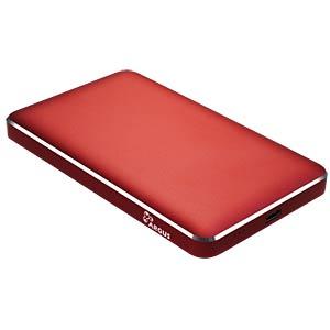 externes 2.5 SATA HDD/SSD Gehäuse, USB 3.0 C, rot INTER-TECH 88884078