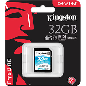 SDHC-Speicherkarte 32 GB, Canvas Go! KINGSTON SDG/32GB