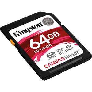 SDXC-Speicherkarte 64 GB, Canvas React KINGSTON SDR/64GB