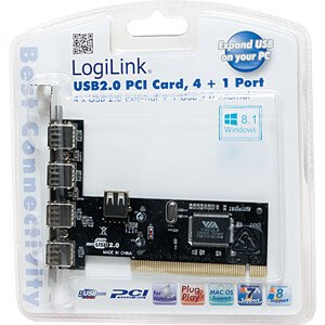 USB-Controller 2.0, 4+1-Port, PCI LOGILINK PC0028