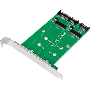 LOGILINK PC0086 - 2x SATA zu 2x M.2 SATA SSD Adapter