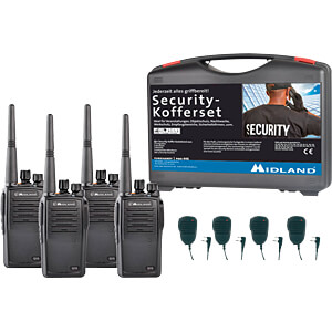 MIDLAND G15 S3 - Business PMR Security-Koffer 4er Set