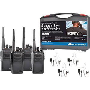 MIDLAND G15 S4 - Business PMR Security-Koffer 4er Set
